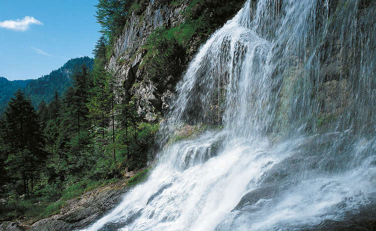 waterfalls in the Weissbach Gorge
