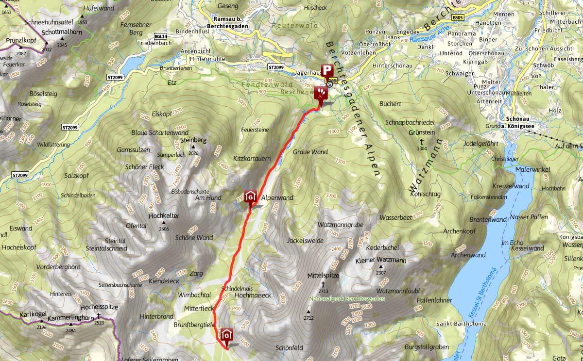 Wanderung durch die Wimbachklamm und das Wimbachgries
