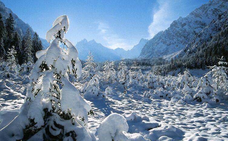 Winter im Wimbachtal Nationalpark Berchtesgaden
