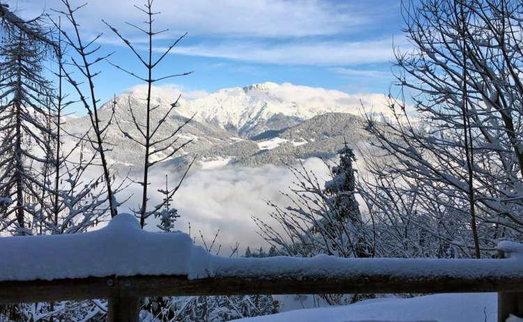 Winter Lindeweg Obersalzberg Untersberg
