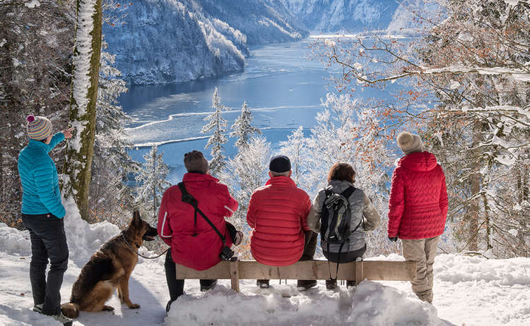 Winter Malerwinkel Koenigssee Aussicht