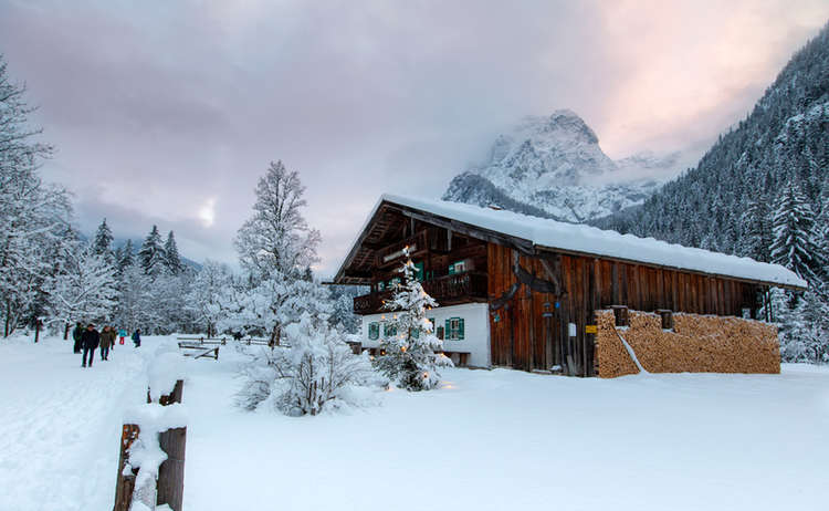 Winter Nationalpark Berchtesgaden Klausbachhaus
