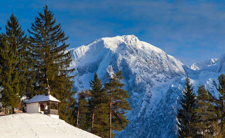 Winterwandern Bayern Bachmannkapelle Berchtesgaden