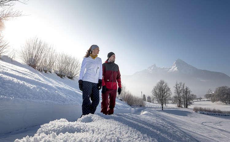 Winterwandern mit Watzmannblick in Bischofswiesen