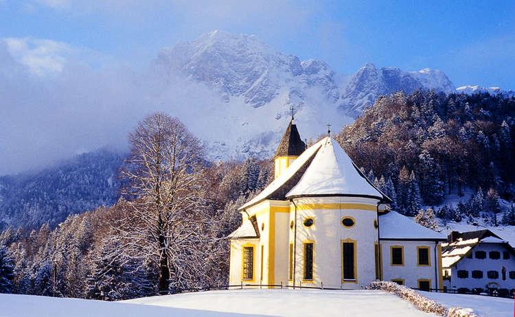 Winterwandern in Berchtesgaden, Kirche Ettenberg