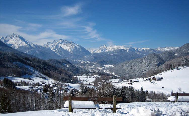 Winterwandern Oberau Bayern