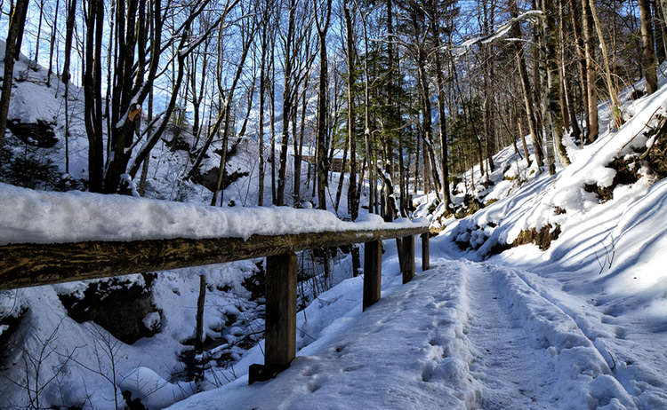 Winterwanderweg in Ramsau