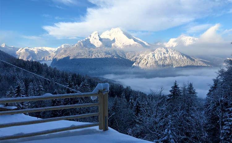 Winterwanderung Carl Von Linde Weg Oberslazberg Watzmann