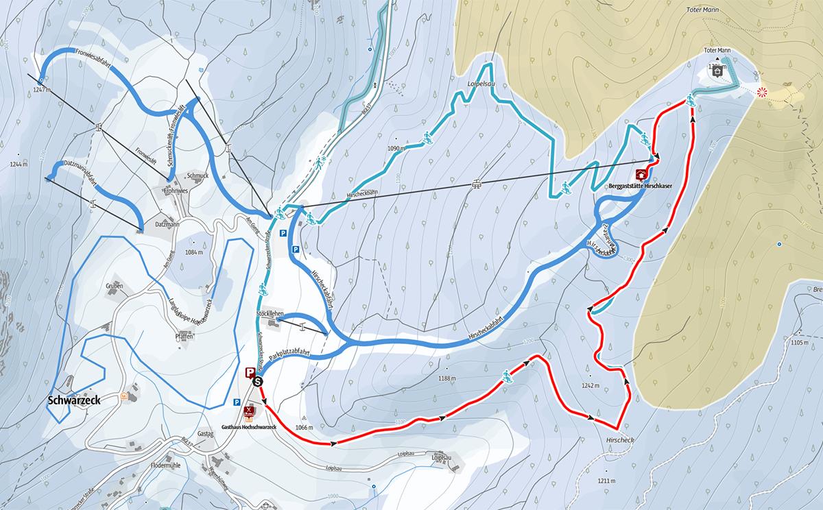 Winterwanderung zum Hirschkaser