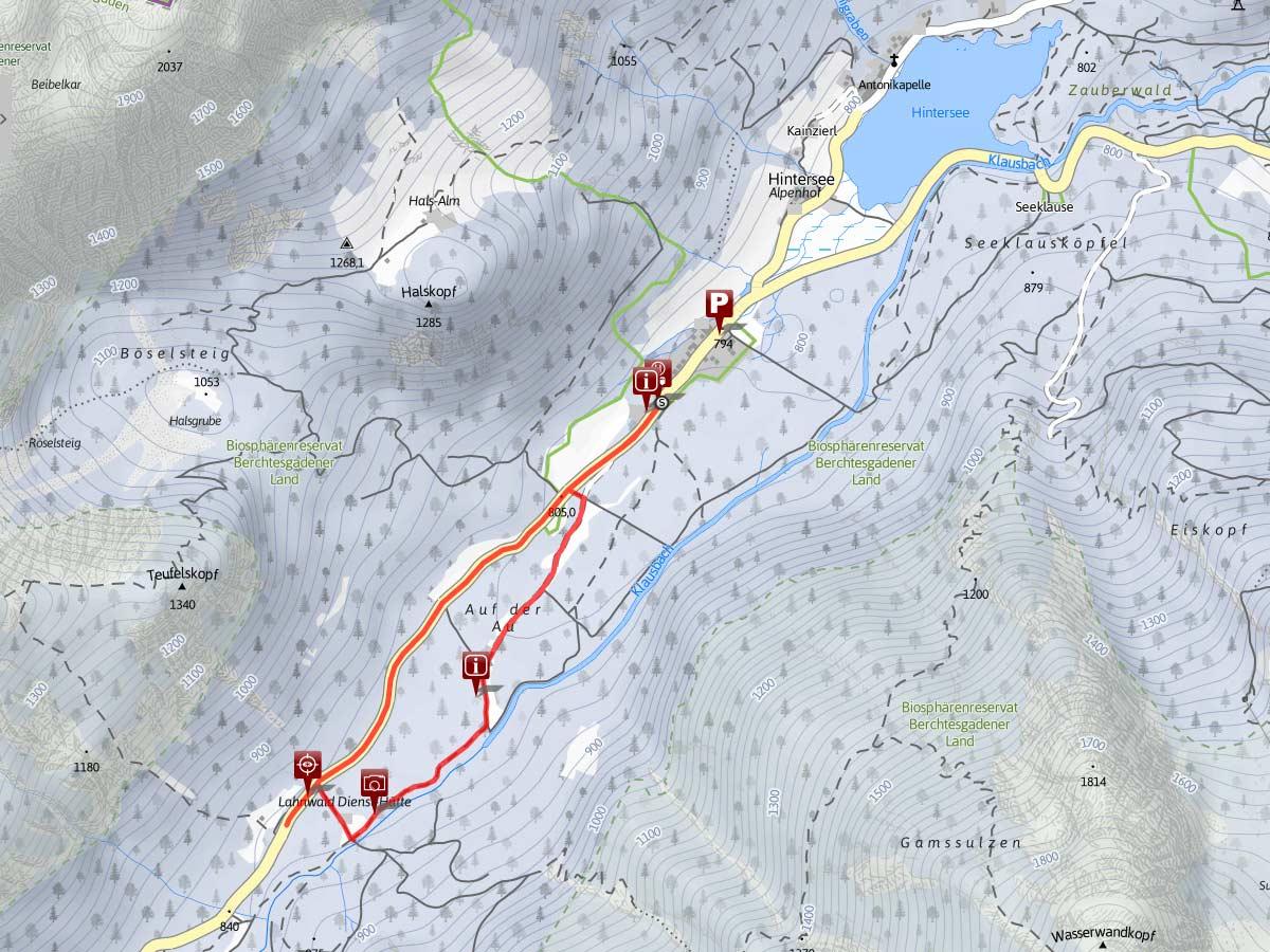 Winterwanderung zur Wildfütterung im Klausbachtal Ramsau