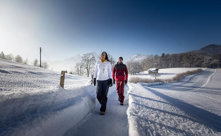 Winterwanderweg Bischofswiesen Watzmann Hochgart