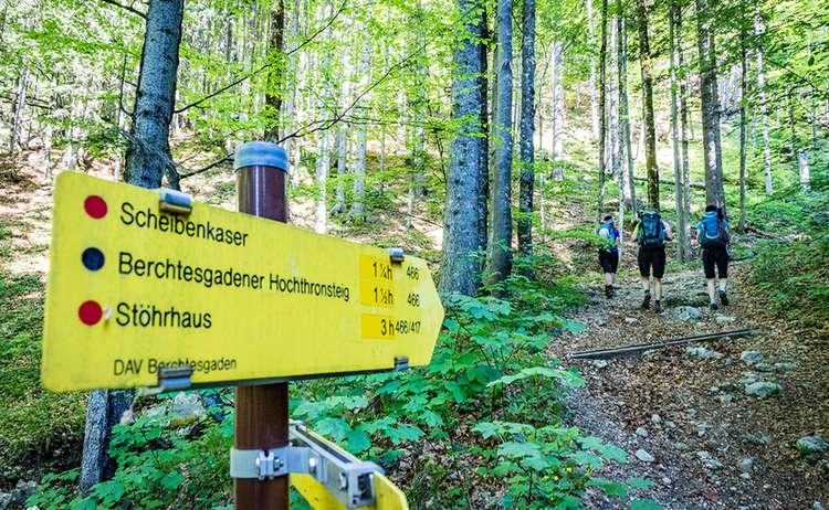 Beginn des Zustiegs zum Hochthron Klettersteig